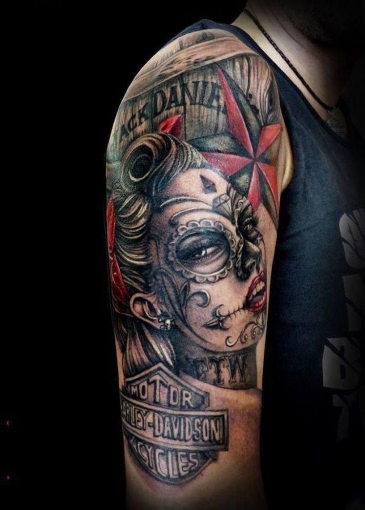 harley tattoos motive